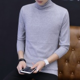 Tips Beli Baru Turtleneck Sweater Pria Korea Casual Knitted Kerah Tinggi Slim Pria Sweater Dan Pullovers Pria Kasual Hangat Tops Intl Yang Bagus