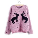 Berapa Harga Baru Musim Dingin Wanita Rusa Natal Sweater On Katun Rajutan Tebal Wanita Pullover Sweater Berwarna Merah Muda Internasional Di Tiongkok