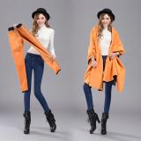 Ulasan Baru Winter Paragraph Plus Velvet Tipis Kaki Pensil Jeans Wanita Hangat Elastis Pinggang Denim Celana Biru Intl