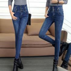 Jual Musim Dingin Baru Dengan Velvet Jeans Wanita Penebalan Lengan Besar Tinggi Pinggang Menumbuhkan Moralitas Seseorang Celana Celana Intl Ori