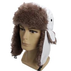 Baru Wanita Musim Dingin Pria Earflap Hangat Trapper Aviator Trooper Cap Rusia Ski Topi Putih-Intl