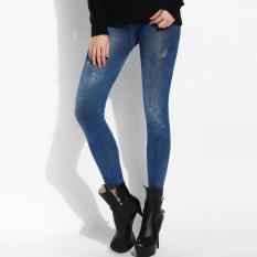 Beli Kasual Wanita Baru Slim Pinggang Tinggi Denim Cetak Terylene S*xy Legging Intl Oem Dengan Harga Terjangkau