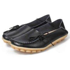 Jual Baru Wanita Kulit Sepatu Loafers Lembut Leisure Flats Wanita Sepatu Kasual Pria Intl Grosir