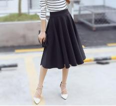 Toko Baru Wanita Bagian Panjang Tinggi Pinggang Rok Ukuran Besar Rajutan Peregangan Cotton Plus Ukuran S 5Xl Warna Hitam Intl Murah Tiongkok