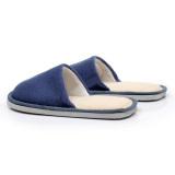 Toko New Wanita Pria Anti Slip Sepatu Datar Yang Lembut Dan Hangat Musim Dingin Rumah Kapas Dalam Sandal Biru Tua International Terlengkap