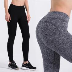 Jual Baru Perempuan Legging Seksi Persik Jenis Angkat Pinggul Celana Yoga Elastisitas Tinggi Cepat Kering Celana Kebugaran Abu Abu Baru