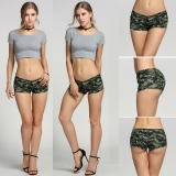 Review New Women S Camouflage Jeans Shorts Hot Pants Denim Low Waist Shorts Intl Oem Di Tiongkok