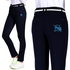 Harga Hemat Baru Wanita Golf Celana Essentials Full Length Pant Sport Golf Pakaian Bernapas Elastis Tinggi Navy Blue Intl