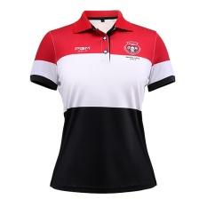 Baru Wanita Golf T-shirt Pakaian Golf Polo Shirt Girl Summer Short Sleeve Tshirt Gaya Baru Kualitas Baik (HITAM) -Intl