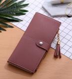 Spesifikasi Baru Dompet Panjang Wanita Buckle Rumbai Kartu Buckle Wallet Pasta Kacang Oem Terbaru