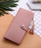 Harga New Women S Long Wallet Buckle Tassel Card Buckle Wallet Light Powder Intl Seken