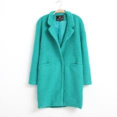 Baru Wanita Super Stylish Wol Hangat Lengan Panjang Jaket Mantel