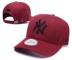 New York Yankees Unisex Topi Baseball Snapback Caps Resmi Pria Wanita MLB Olahraga Topi Beat-Boy Olahraga (Merah) -Intl