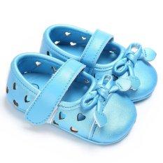 Bayi-18 Bulan Musim Panas Bayi Perempuan Anak Laki-laki Slip-On Lembut Sole Sepatu Cute Casual Boots S1988 Warna Biru-Intl