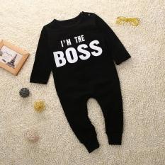 Bayi Yang Baru Lahir Baby Boy Girl Letter Jumpsuit Baju Monyet Pakaian Pakaian-Intl