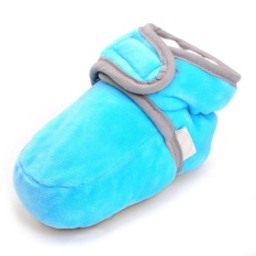 Bayi Yang Baru Lahir Baby Boy Girl Solid Crib Sepatu Lembut Sole Anti-slip BOOT