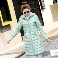 TERBARU BESTSELLING--2017 Wanita Tide Mantel Musim Dingin Ringan dan Tipis Ramping Katun Jaket Katun College Angin Down Cotton Clothing Winter WARM Coat-Hijau-Intl