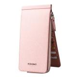 Jual Desain Terbaru Multicard Slot Clutch Dompet Untuk Pria Wanita Hasp Ritsleting Dompet Unisex Dompet Pink Oem Asli