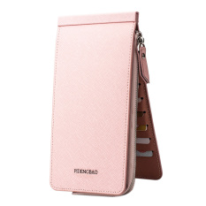 Harga Desain Terbaru Multicard Slot Clutch Dompet Untuk Pria Wanita Hasp Ritsleting Dompet Unisex Dompet Pink Oem Ori