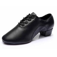 Terbaru Latin Men's Dance Sepatu Modis Modern Ballroom Tango Dance Shoes701 (Hitam)