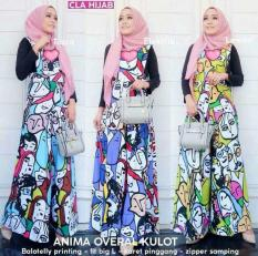 Jual Newone Shop Gamis Syari Overall Kulot 3 Warna Tosca Blue Yellow Fashion Muslim Online Indonesia