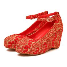 Harga Neytiri2017 Merah Pernikahan Sepatu Sepatu Pernikahan Merah Emas Branded