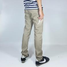 Toko Nhs Celana Chino Pria Pocket Straight Fit Mocca Termurah Jawa Barat