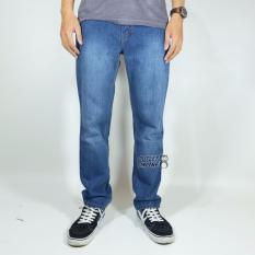 Jual Nhs Celana Jeans Wash Regular Fit Mid Blue Nhs Wear Branded