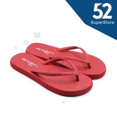Ando Sandal Jepit/Flip Flop Wanita Nice Ladies - Merah Ukuran 36/40