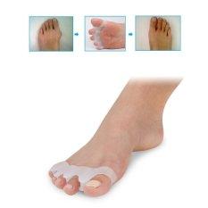 Spesifikasi Niceeshop 2 Pasang Silikon Toe Separator Toe Lipat 4 For Bunion Sakit Relief Toe Pelurus Hammer Toes Paling Bagus