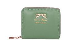 Spesifikasi Niceeshop Fashion Wanita Ritsleting Pu Kulit Tas Dompet Pemegang Kartu Mini Tas Tangan Hijau Niceeshop Terbaru