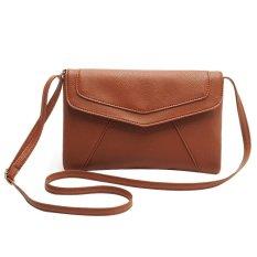 Review Niceeshop Pu Kulit Wanita Envelope Satchel Cross Body Shoulder Bags Tas Tangan Brown Tiongkok