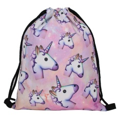 Jual Cepat Niceeshop Wanita Wanita Novel Unicorn Printed Handbag Drawstring Backpack Tas Lucu Yang Dapat Membuat Orang Yang Melihatnya Tertawa Terbahak Bahak Atau Justru Kesal Karena Merasa Hadiah