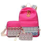 Spesifikasi Niceeshop Pencetakan Wanita Santai Tas Kanvas Ransel Leaper Ringan Bahu Bag Tas Hot Pink Dan Harga
