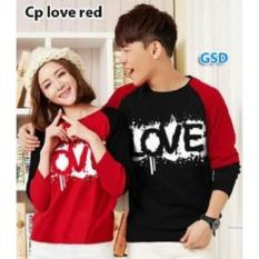 Nicer Couple Kaos Lengan Panjang-Cp Love Maroon