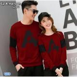 Beli Nicer Couple Kaos Trendy Cp 004 Maroon Online Murah