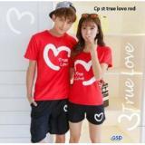 Katalog Nicer Couple Setelan Kaos Celana Pendek Cp Set True Love Red Ncr Terbaru