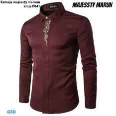 Jual Cepat Nicer Fashion Kemeja Pria P041 Maroon