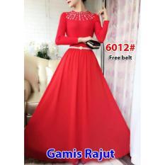 Nicer-Gamis Rajut Impor 6012 Red