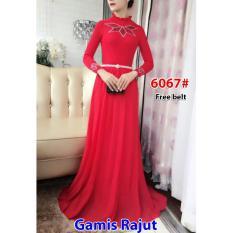 Nicer-Gamis Rajut Impor 6067 Red