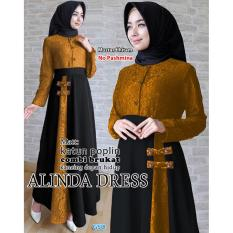 Beli Nicer Gamis Syari Simple Elegant Dress Linda Mustard Seken