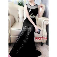 Toko Nicer Gaun Pesta Brukat Impor Long Dress 99271 Black Termurah Di Dki Jakarta