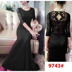 Promo Nicer Longdress Impor 9743 Black