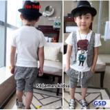 Spesifikasi Nicer Setelan Baju Cardi Anak Cowo St James Kid Wh