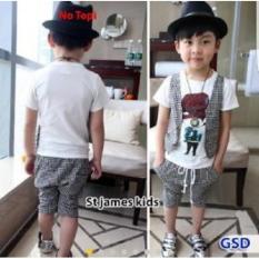 Jual Nicer Setelan Baju Cardi Anak Cowo St James Kid Wh