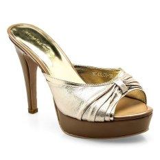 Jual Nicholas Edison Glamour Sepatu Heels Light Gold Satu Set
