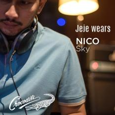 NICO Sky - Baju Pria Crocodile Men Polo Shirt - Bahan Katun 100% Cotton - KHUSUS PENJUALAN ONLINE