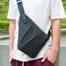 Harga Niid Fino Digital Man Inclined Bag Multi Function One Shoulder Canvas Chest Package Right Hand Intl Terbaik