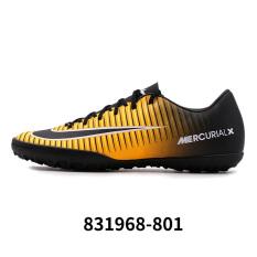 Nike 11tf baru sepatu sepak bola pria, sepatu pria (Laser oranye/hitam/putih/kuning fluoresensi)