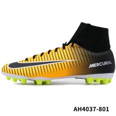 Nike ah4037-801 set kaus kaki kaus kaki pria sepatu sepak bola (Laser oranye/hitam/putih/kuning fluoresensi)